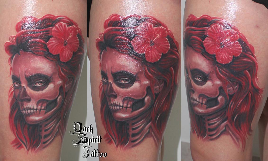 pin tatouage catrina santa muerte tattoo inkage on pinterest. Black Bedroom Furniture Sets. Home Design Ideas