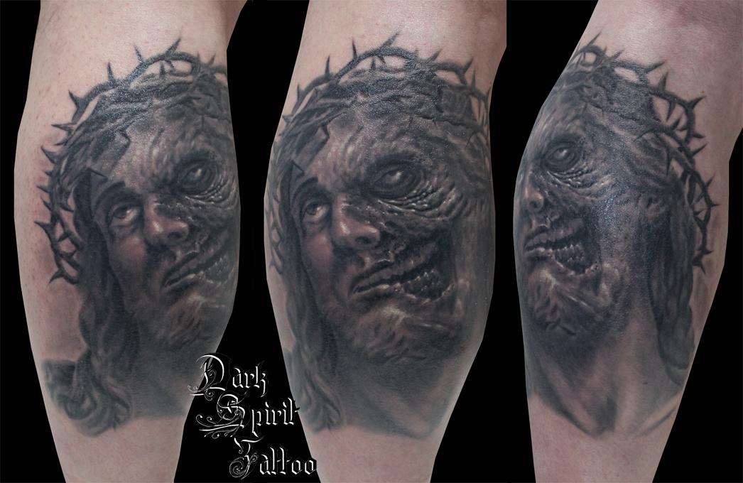 1fredo Jesus Christ Moitie Zombie Dark Spirit Tattoo Taouage Religieux F 680 Dark Spirit Tattoo