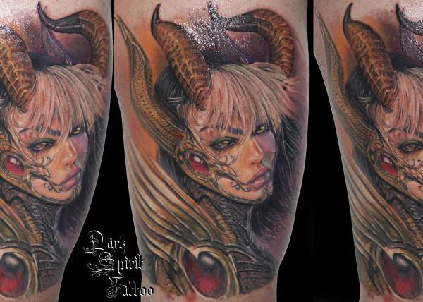 Tatouage Ange Cranes Dark Spirit Dark Spirit Tattoo