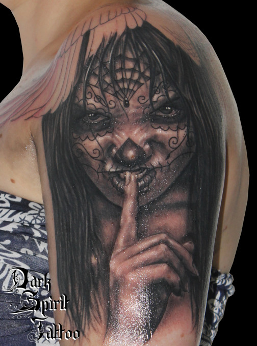 Visages archives dark spirit tattoo - Santa muerte signification ...
