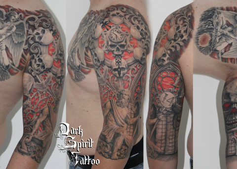 Divers archives dark spirit tattoo - Tatouage tete de mort avant bras ...