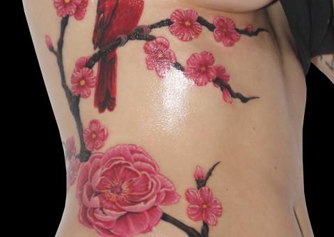 Fleurs archives dark spirit tattoo - Tatouage fleur couleur ...