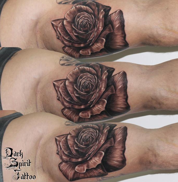 tatouage paule horloge rose femmes par immortal ink pictures to pin on pinterest. Black Bedroom Furniture Sets. Home Design Ideas