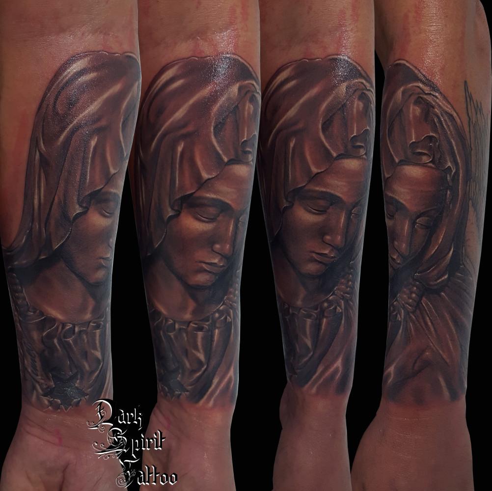 Tatouage Vierge Marie Dark Spirit Tattoo