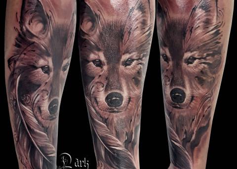 Galerie tattoo - Tatouage loup femme ...