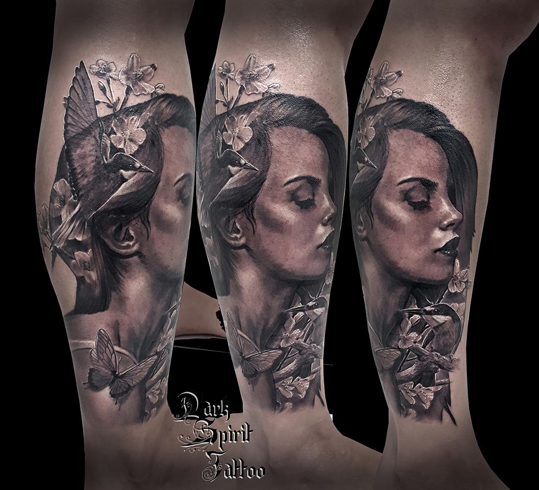 tatouage samurai tete de loup